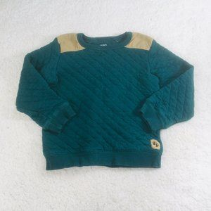 Carter's Quilted Green Sweatshirt Size 5T